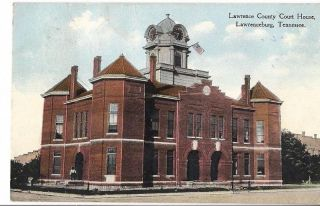 Tennessee TN Lawrenceburg Lawrence County Courthouse