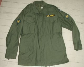 VIETNAM War US ARMY M 65 Cotton Sateen FIELD JACKET Coat MINT Sz SMALL