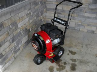 Used Giant Vac push walk behind leaf blower 9 hp Briggs & Stratton