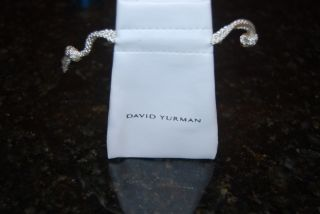 Size Authentic David Yurman White Leather Jewelry Pouch White Storage