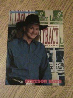 Stetson Hat Advertisement Tracy Lawrence Cowboy Ad