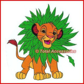 Simba Tree Leaves Lion King Iron on T Shirt Glitter Heat Transfer New