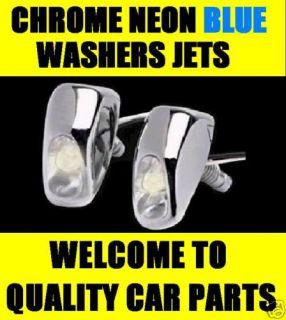 Blue LED Neon Chrome Washer Jets MR2 Yaris Avensis RAV4