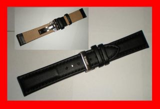 Safety Clasp Traser Luminox Leather Watch Band Strap 22