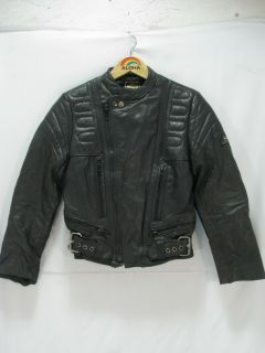 Vtg Echtes Leder Genuine Leather Motorcycle Biker Cafe Racing Jacket