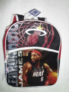 NBA Miami Heat #6 LeBron James 16 Backpack~NBA TAG NEW~VHTF FREE