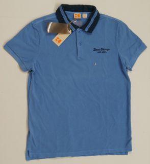 Hugo Boss Orange Men PLAYA Polo Shirts Blue New $75