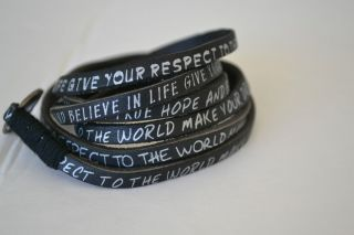 Humanity Hope and Believe Leather Wrap Bracelets