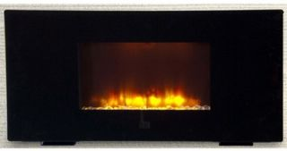 Flat Panel Wall Mount Fireplace Heater Free Stand LED Flame