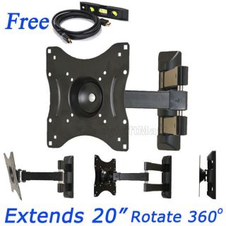 Full Motion LCD LED TV Wall Mount for Samsung Panasonic Sceptre 32 37