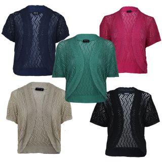New Women Ladies Shrugs Crop Cardigans Bolero Crochet Shrug SM ml LXL