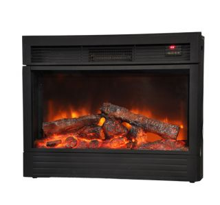 LED Freestanding Electric Fireplace Warm Heater w Remote Control