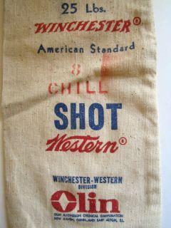 WESTERN LEAD SHOT BAG, WINCHESTER LEAD SHOT BAG SHOT GUN SHELL BOX