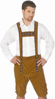 Mens Oktoberfest Halloween Costume Lederhosen Shorts