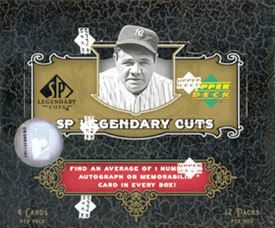 2007 SP Legendary Cuts Game Used Hot Pack Guarenteed Game Used Card