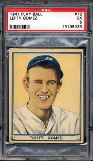 1941 Play Ball 72 Lefty Gomez Yankees PSA 5 EX