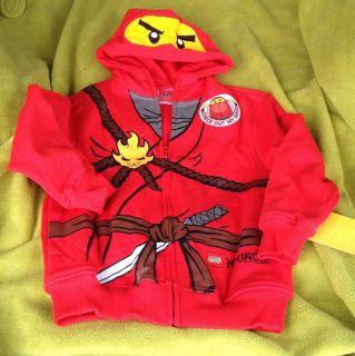 Lego Ninjago Kai Boys Hoodie Sweatshirt Size 4 Costume Red Ninja VHTF