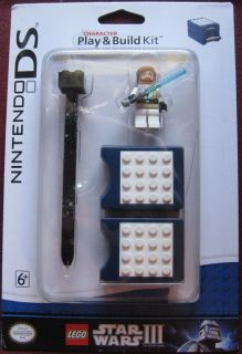 Nintendo DS Lego Star Wars 3 Play Build Kit OBI Wan Kenobi Minifigure