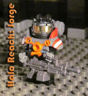 Lego Halo Reach Custom Jorge Spartan Minifigure Action Figure Fig Army