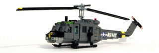 Lego Vietnam era U S Army UH 1D Huey Helicopter Military Model Custom