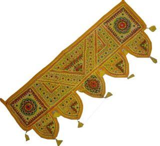 INDIAN DOOR DECOR GUJARATI PATCH WORK ART EMBROIDER TORAN VALANCE WALL