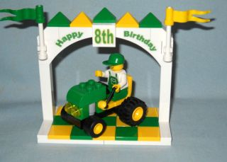Lego 8th Birthday Cake Topper Green Yellow Tractor New