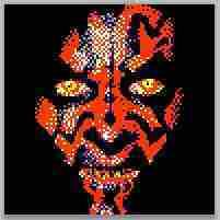 Lego Star Wars Darth Maul Custom Mosaic Art Instructions