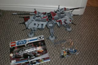 Lego Star Wars The Clone Wars AT TE Walker 7675 Pimped Out w 7 extra
