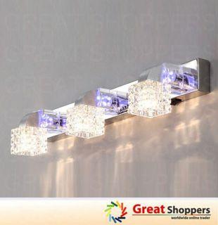 New Modern 3 head Crystal LED Wall Lamp Sconce Light Lighting Fixture