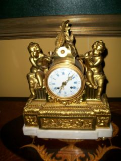 Circa 1750 Etienne Lenoir Gilt Bronze Mantle Clock