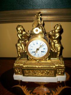 Circa 1750 Etienne Lenoir Gilt Bronze Mantle Clock