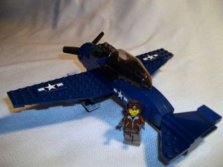 Lego Custom World War 2 American Fighter Plane Set