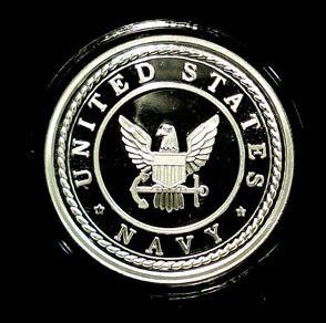 United States Navy 1 oz 999 Silver PF Round