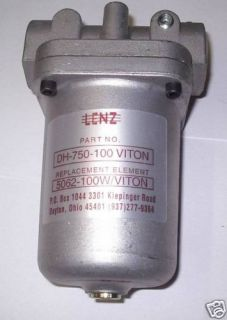 Lenz Viton in Line Waste Oil Fuel Filter DH 750 100