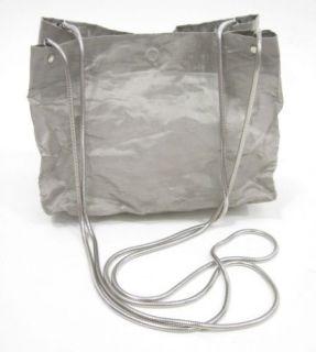 Tote Le Monde Silver Recycled Plastic Shoulder Handbag