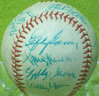 LEFTY GROVE GOMEZ DUKE SNIDER hof Signed BASEBALL BALL auto vtg old