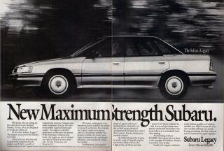 Subaru Legacy 1989 Magazine Print Ad B