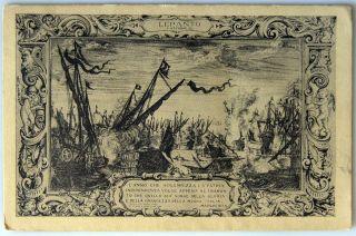 Vintage 1912 Italian Postcard Lepanto 5 Ottobre 1571
