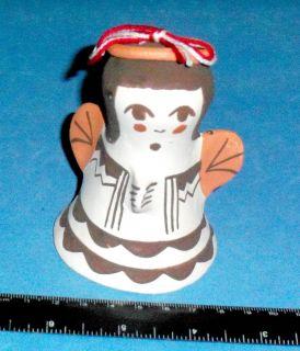 Acoma Christmas Ornament Angel Bell Joyce Leno 3 3 4 ABA 1126