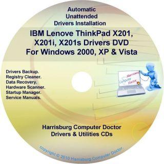 IBM Lenovo ThinkPad X201 Drivers Recovery Disc CD DVD