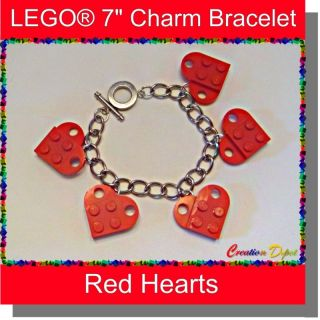 Lego® Fashion 7 Heart Charm Bracelet Valentines Day