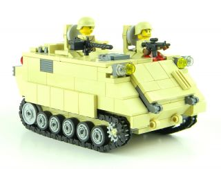 Custom Lego Army Tank M113 APC Army Tank Armored Personnel Carrier