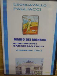 Opera Mario Del Monaco Protti I Pagliacci Leoncavallo 1961 DVD