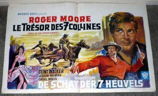 Saints Original Poster Clint Walker Roger Moore Leticia Roman