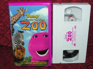 Barney Lets Go to The Zoo Baby Bop BJ Animal VHS Childrens