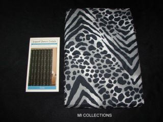 New Black White Leopard Print Zazu Fabric Shower Curtain