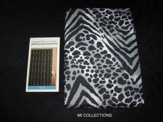 New Black White Leopard Print Zazu Fabric Shower Curtain