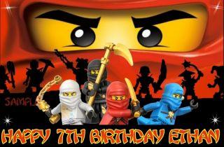 Lego Ninjago Ninjas 2 Frosting Sheet Edible Cake Topper Image