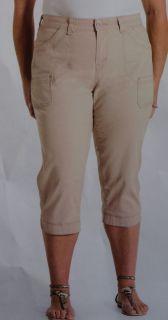 Womens Plus Size Levis Capri Pants Safari Quality Detail Sz 16 18 20