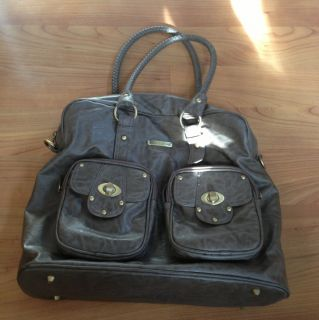 Timi Leslie Faux Leather Baby Diaper Bag